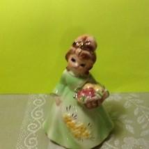 Rare Lefton Vintage Girl Spring Figurine In Lig... - $24.95