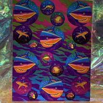 Lisa Frank Complete Sticker Sheet S218 Rainbow  Great White Shark  Perfect