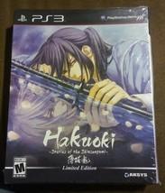 Hakuoki Stories of the Shinsengumi Limited Edition Playstation 3 PS3 Box... - $31.19