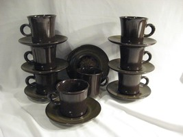 FRANCISCAN MADEIRA CUPS & SAUCERS - EIGHT SETS - $46.39