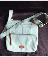 Fossil Morgan Traveler Sea-Foam Green Leather Crossbody Bag, NWOT - $68.60