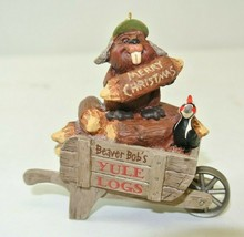 QP1927 Beaver Bob's Yule Log Hallmark Keepsake Christmas Ornament - $9.89