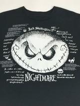 Jack Skellington Disney Store Medium Black T-Shirt Welcome To My Nightmare - $14.81