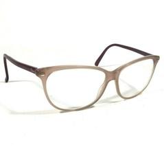 Christian Dior Eyeglass Frames Clear Nude Peach Purple Cats Eye 50 19 120 V38 - $60.78