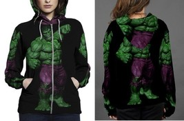 hulk full black bacground Hoodie Zipper Women's - $48.99+