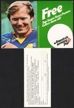 Vintage carton stuffer 7 UP dated 1979 Pat Haden Los Angeles Rams unused... - $8.99