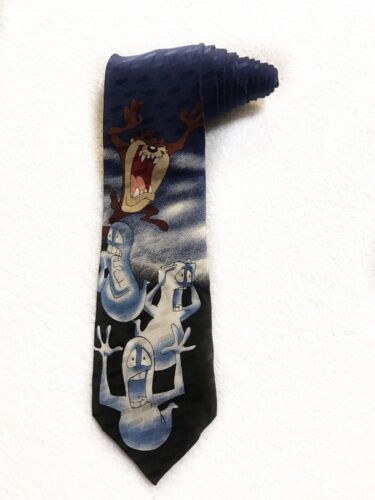 Primary image for Looney Tunes Mania Taz Devil Ghost Halloween Cartoon Novelty Tie Necktie