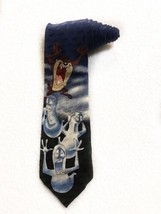 Looney Tunes Mania Taz Devil Ghost Halloween Cartoon Novelty Tie Necktie - $19.79