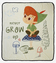"Disney Peter Pan Never Grow Up Silk Touch Soft Plush Throw Blanket 50""x60"" - $37.14"