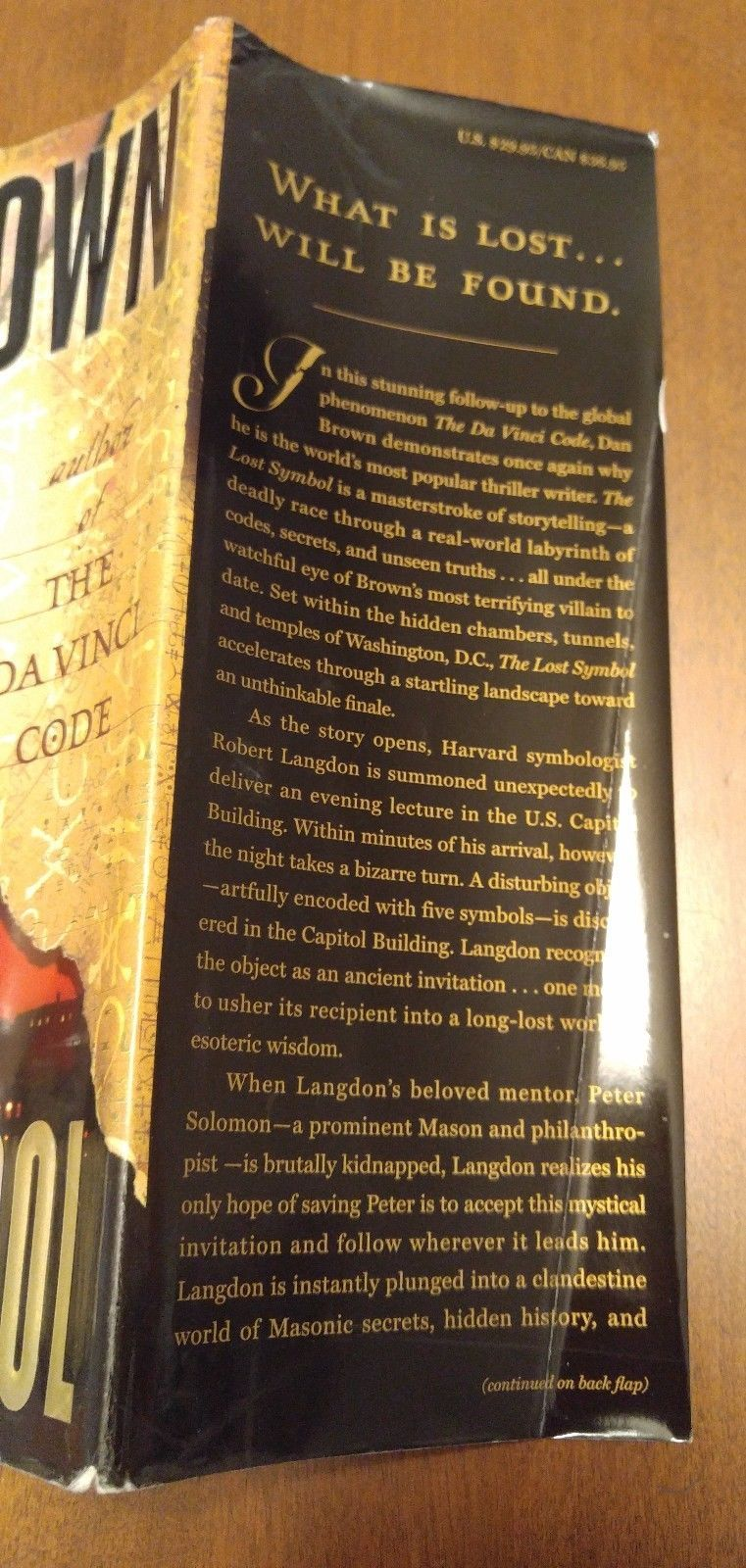 First Edition 1st Print Dan Brown The Lost Symbols