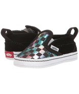 "Vans Crib Slip On V ""Iridescent Checkerboard"" Baby Toddler Shoes VN0A2XS... - $40.00"