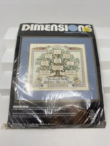 Dimensions Counted Cross Stitch Kit Family Tree 3671 Vintage Genealogy - $19.79