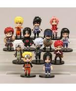 12pcs/set Anime Shippuden Hinata Sasuke Itachi Kakashi Gaara Jiraiya PVC... - $35.63