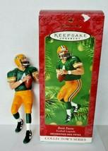 2001 Hallmark Brett Favre Football Keepsake Ornament Green Bay Packers U17 - $16.99