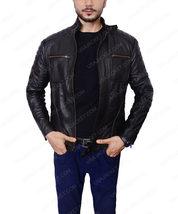 Arrow Malcolm Merlyn Cafe Racer Motorcycle Jacket Mens - $118.00