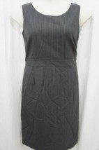 Anne Klein Platinum Dress Sz 16 Charcoal Multi Sleeveless Business Cockt... - $59.35