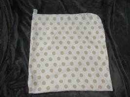 Circo Cream Brown Tan Polka Dot Spot Circle Baby Flannel Receiving Blanket - $17.81