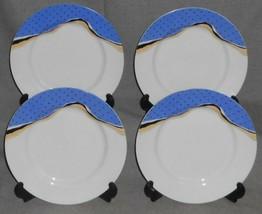 Set (4) Arita Tondo Designs MATIERE PATTERN Salad Plates JAPAN Fiona Stokes - $29.69
