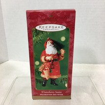 2000 Winterberry Santa w Tree Hallmark Christmas Tree Ornament MIB Price Tag H2 - $18.32