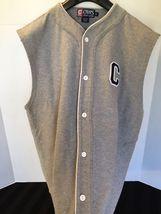 Vintage 90's CRL Ralph Lauren Baseball Jersey Sleeveless Gray Spellout Sz M - $35.00