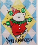 1994 BAG ONLY Jester Clown Santa Bear Santabear Bag Dayton Hudson Marshall  - $14.99