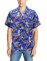 Men's Casual Tropical Hawaiian Luau Aloha Revere Beach Button Up Dress Shirt image 10
