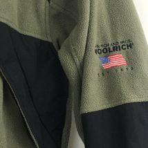Woolrich Mens  Zip Up Fleece Jacket Sz L Large Zip Up Pockets B209 image 4