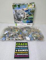 Howard Robinson Art Twilight in Sumatra White Tiger Harmony Puzzle 550 NIOB - $14.99