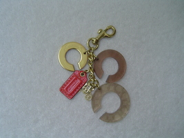 AUTHENTIC COACH GOLD OP ART C'S HORSE AND CARRIAGE CHARM AND HANG TAG/KE... - $36.00