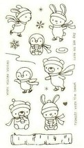 """Stamp Set """"Warm Winter Wishes"""" with Cute Animals - PERFECT FOR CARD MAKING!"""