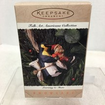 1995 Folk Art Learning to Skate Hallmark Christmas Tree Ornament MIB Pri... - $12.38