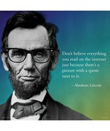 Abraham Lincoln Internet Novelty Quote Saying College Political Art Prin... - $10.21