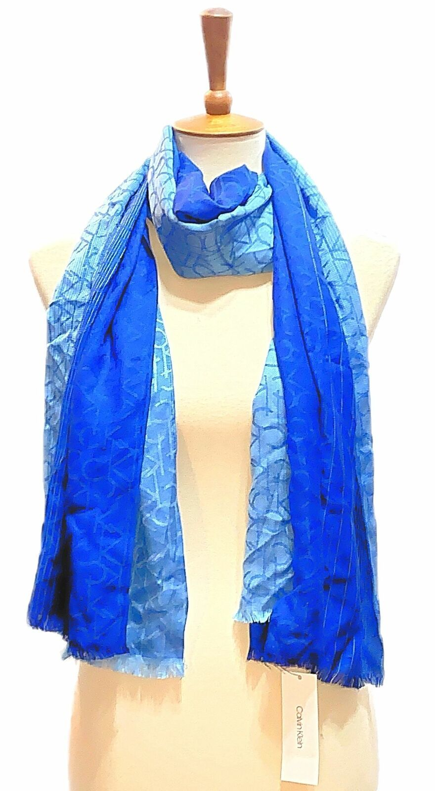 Primary image for Calvin Klein Ombre Logo Soft Scarf (Adrenaline Blue)