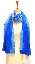 Calvin Klein Ombre Logo Soft Scarf (Adrenaline Blue) - $17.63
