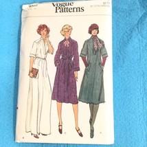 Vogue Patterns 9266 70s Dress Tunic Pullover Mandarin Sewing Pattern Size 12 VTG - $12.38