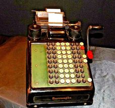 Antique Burroughs Hand Crank Adding Machine AA19-1533 image 4