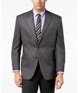 NWT Lauren by Ralph Lauren Mens 46R Grey Herringbone Cashmere-Blend Spor... - $98.95