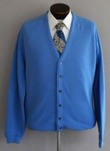 Vintage 60s Blue Grandpa Cardigan Golf Sweater Size Large to XL - $49.99