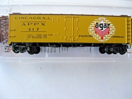 Micro-Trains Stock #05900556 Agar Packing Co 40' Steel Ice Reefer N-Scale image 1