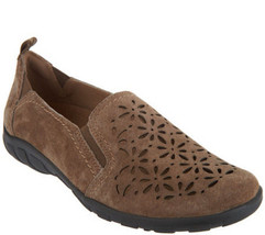 Womens Earth Origins Rikki Suede Perforated Slip On Shoes [720494WSDE] - $49.99