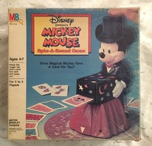 Vintage Disney Mickey Mouse Spin Around Card Game Complete In Box New - $38.95