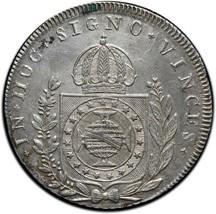 1825R BRAZIL 960 REIS 960 RARE Silver Coin Lot# A 536