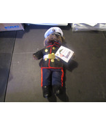 BEAR FORCES OF AMERICA MARINE BEAR IN BLUE 12 INCHES TALL WITH TAGS - $9.79