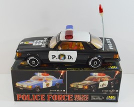 1980s MG Magic Toys Police Force Mercedes Benz 450SLC Car Battery Operat... - $26.99