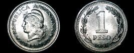 1957 Argentina 1 Peso World Coin - $5.99
