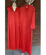 Red Vintage 2 Piece Nightgown Robe Set Small JC Penney Nylon USA Made Peignoir - $73.50