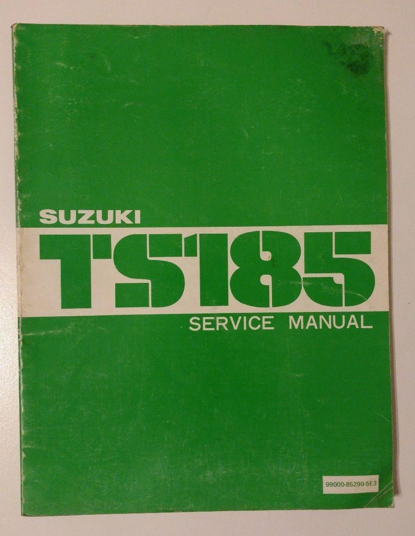 Original Suzuki TS185 Service Manual and 50 similar items. S l1600