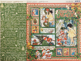 Graphic 45 Christmas Magic 12x12 Cardstock Sheets and Sticker Sheet