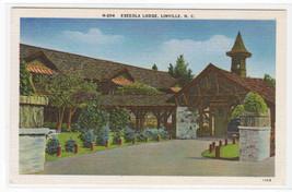 Eseeola Lodge Linville North Carolina linen postcard - $5.45
