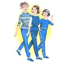 1960s Vintage Butterick Sewing Pattern 9554 Girls Blouse Slim Leg Pants ... - $6.95